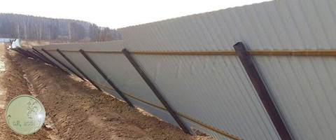 Забор упал (профнастил, ошибки установки)